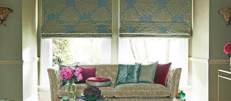 flat roman shade - window treatment