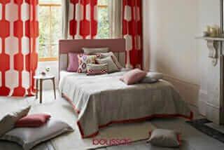 Geometric, pattern, window treatments, windows, drapery, textiles, trends, new
