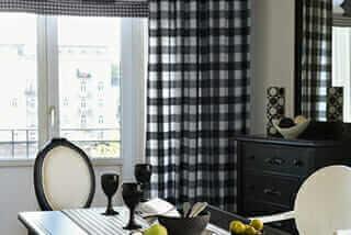 plaid, pattern, window treatments, windows, drapery, textiles, trends