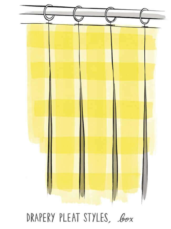 box pleat, Pleated drapery, custom pleated drapery, curtain styles, pleated drapery inspiration, drapery trends