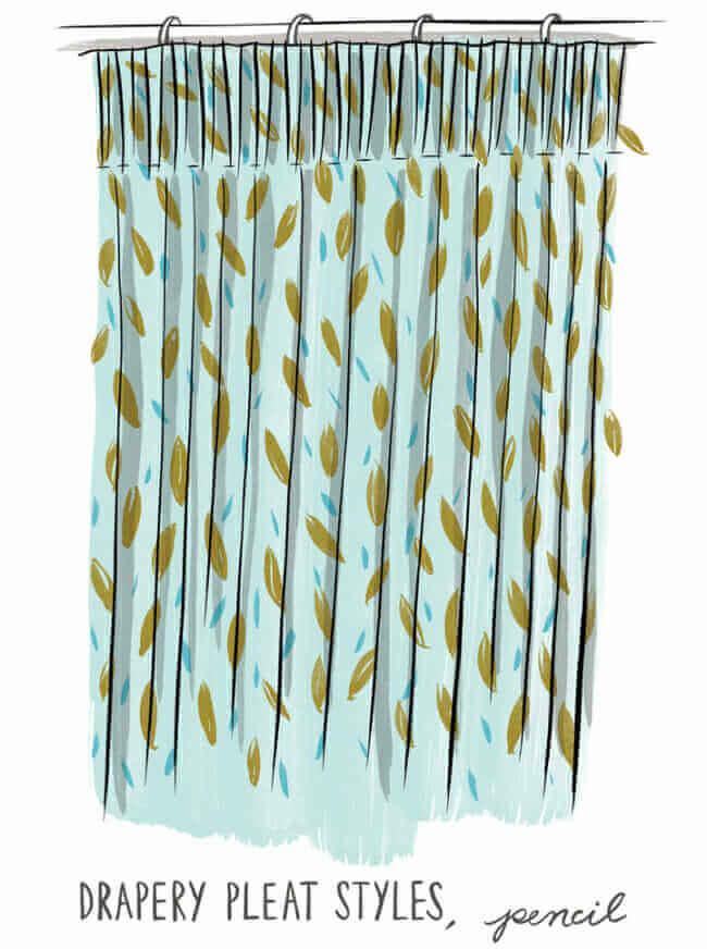 pencil pleat, Pleated drapery, custom pleated drapery, curtain styles, pleated drapery inspiration, drapery trends