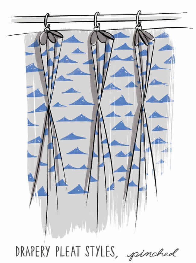 Pinched pleat, Pleated drapery, custom pleated drapery, curtain styles, pleated drapery inspiration, drapery trends