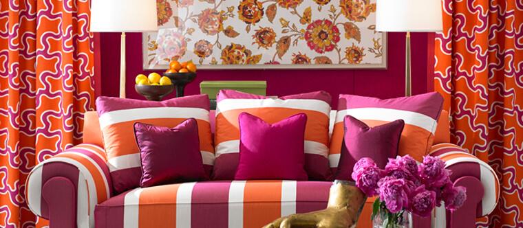 Coordinating Wallpaper and Drapery Fabrics