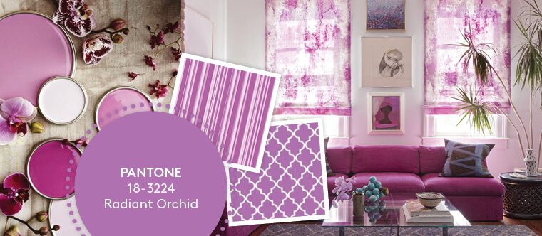 Decorating with Pantone's Top 10 Summer Colours - Radiant Orchid