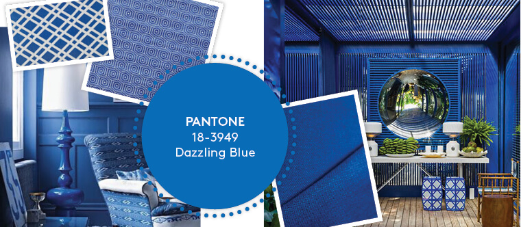 Decorating with Pantone's Top 10 Summer Colours - Dazzling Blue