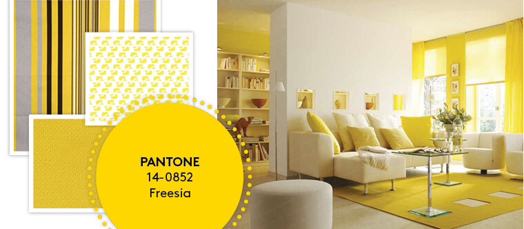 Decorating with Pantone's Top 10 Summer Colours - Freesia