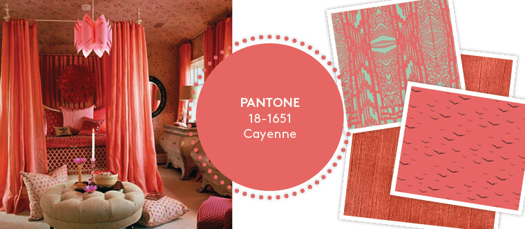 Decorating with Pantone's Top 10 Summer Colours - Cayenne