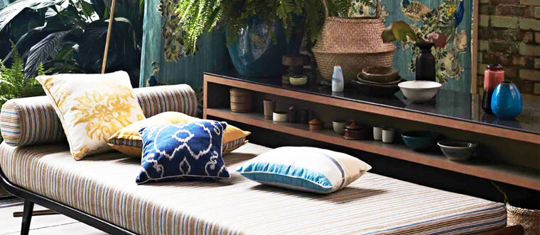 Outdoor fabric for indoor style sourced by National Drapery