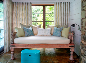 Outdoor fabric for indoor style sourced by National Drapery - Lee Jofa's Groundworks Ventana Solarium collection