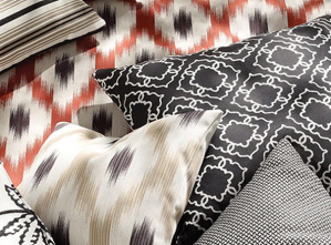 Outdoor fabric for indoor style sourced by National Drapery - Osborne & Little's Ionia Outdoor Indoor Fabric collection
