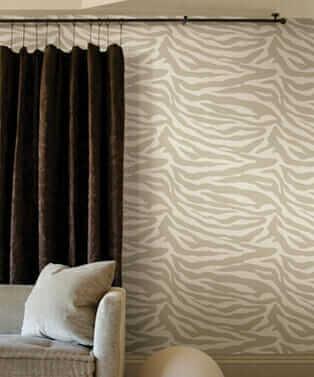 wall to wall drapes, fall colour
