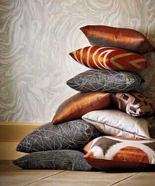 throw pillows, fall colour