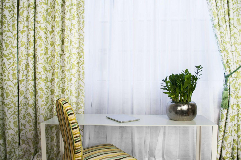 Custom drapery panels and sheers