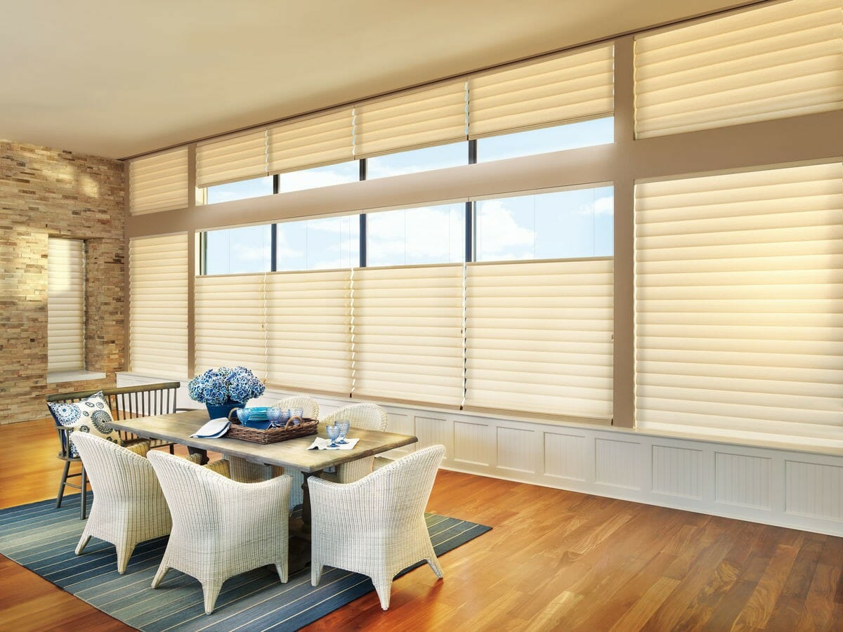 Dining Room Shading and Drapes