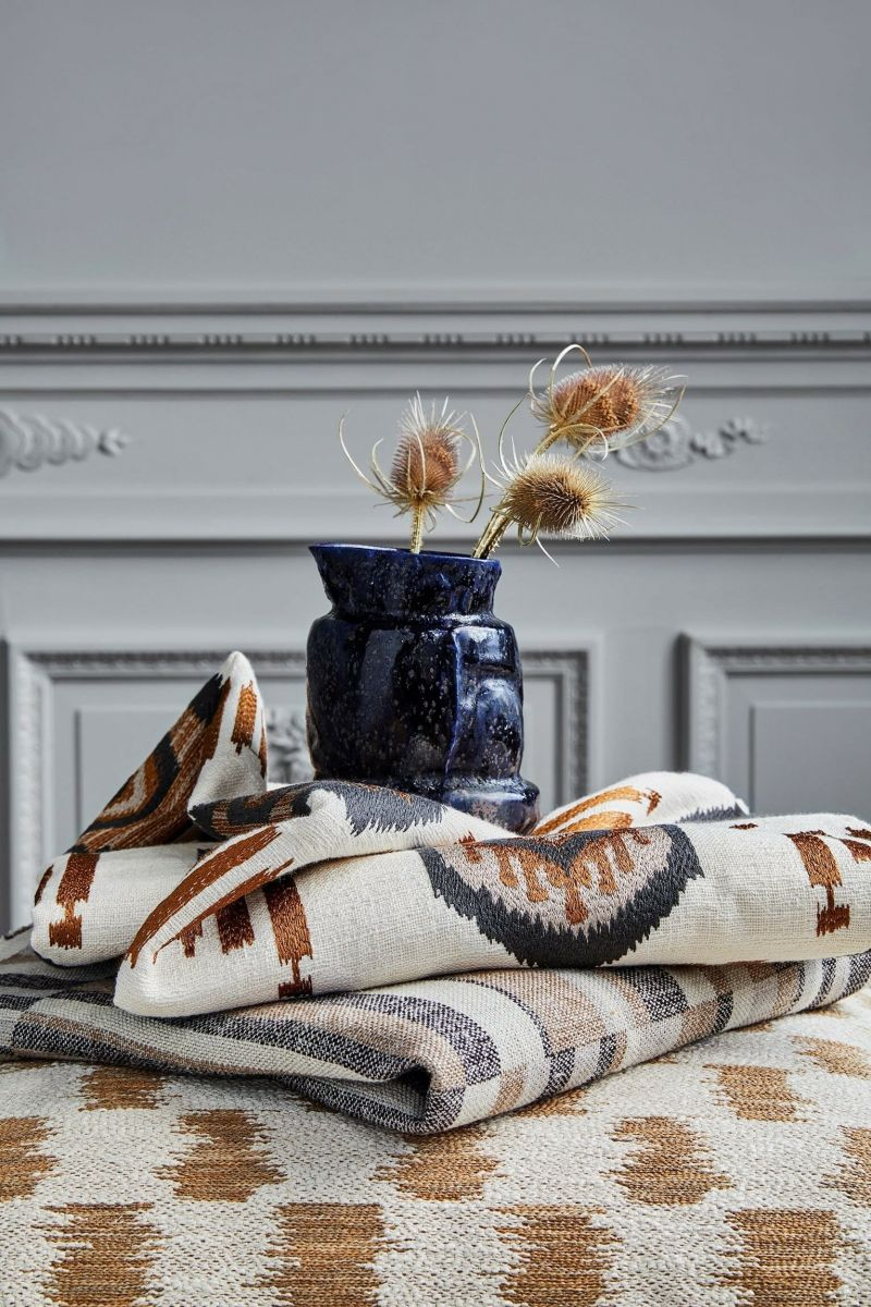 Designer wool fabric